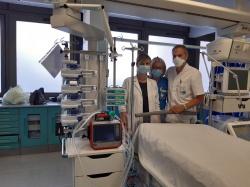 Ospedale di Pescia. Messo in funzione il ventilatore polmonare per la terapia intensiva donato dalla Brandani Gift Group