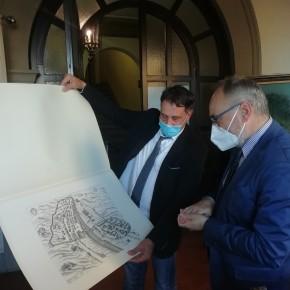 Il prefetto di Pistoia Gerlando Iorio in visita al comune di Pescia