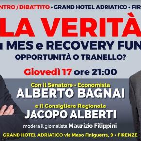 Firenze Grand Hotel Adriatico giovedì 17 settembre. LA VERITÀ su MES e RECOVERY FUND con il Sen. Alberto Bagnai