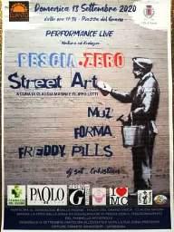 """Pescia Piazza del Grano domenica 13 settembre """" Pescia. Zero street Art""""- Performance live"""