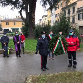 L'omaggio di Pescia ai caduti di Nassiriya.    Giurlani, Guidi e Morelli hanno rappresentato il Comune.
