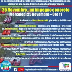 Violenza sulle donne, un impegno concreto: diretta live sulla pagina di  Forza Italia Toscana