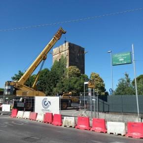 Sabato 10 luglio, alle ore 15, riapre il tratto di strada al Molinaccio di Uzzano           Terminato l'intervento di messa in sicurezza della Torre, i lavori continuano