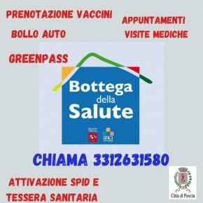Il ritiro del Greenpass disponibile anche presso la Bottega della Salute  Dal lunedì al venerdì, dalle 9 alle 12.30, p.zza Mazzini 17