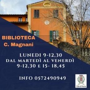 Nuovo orario di apertura della Biblioteca Comunale Carlo Magnani.