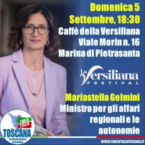 """Mallegni e Mazzetti (FI): """"Dopo il ministro Brunetta e il Coordinatore Nazionale Tajani siamo lieti di accogliere il Ministro Gelmini. Essenziale sua opera di raccordo tra i territori nell'emergenza e per la ripartenza"""""""