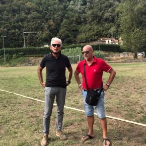 """Bellandi """"Ricciano  esempio di gestione virtuosa degli impianti sportivi""""     L'assessore allo sport in visita dal presidente Magni"""