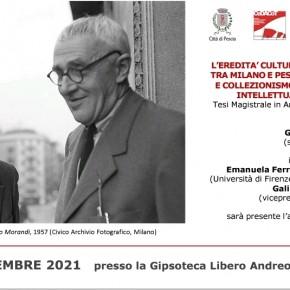 Palagio venerdì 24 settembre ore 16.00.L'eredità culturale di Lamberto Vitali tra Milano e Pescia