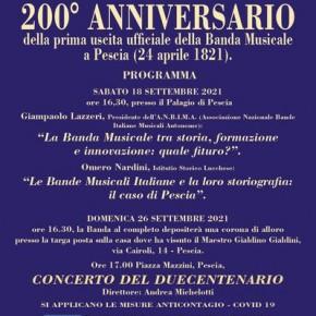 200° anniversario dalla prima uscita ufficiale della Banda Musicale
