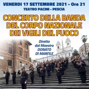 Pescia Teatro Pacini venerdì 17 settembre. Concerto della Banda del Corpo Nazionale dei Vigili del Fuoco