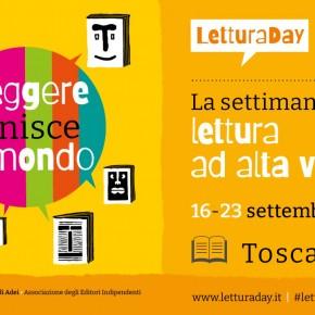 Dal 16 al 23 settembre 2021  LEGGERE UNISCE IL MONDO, IN TOSCANA UNA SETTIMANA DEDICATA ALLA LETTURA AD ALTA VOCE Appuntamenti a Firenze, Pistoia, Cecina, Monsummano Terme