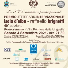 Sabato 4 settembre a Portoferraio la 49a edizione del Premio Letterario Internazionale Isola d'Elba - R. Brignetti