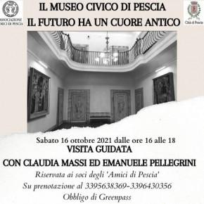 Sabato 16 ottobre. Visita guidata al Museo Civico promossa dall'Associazione Amici di Pescia